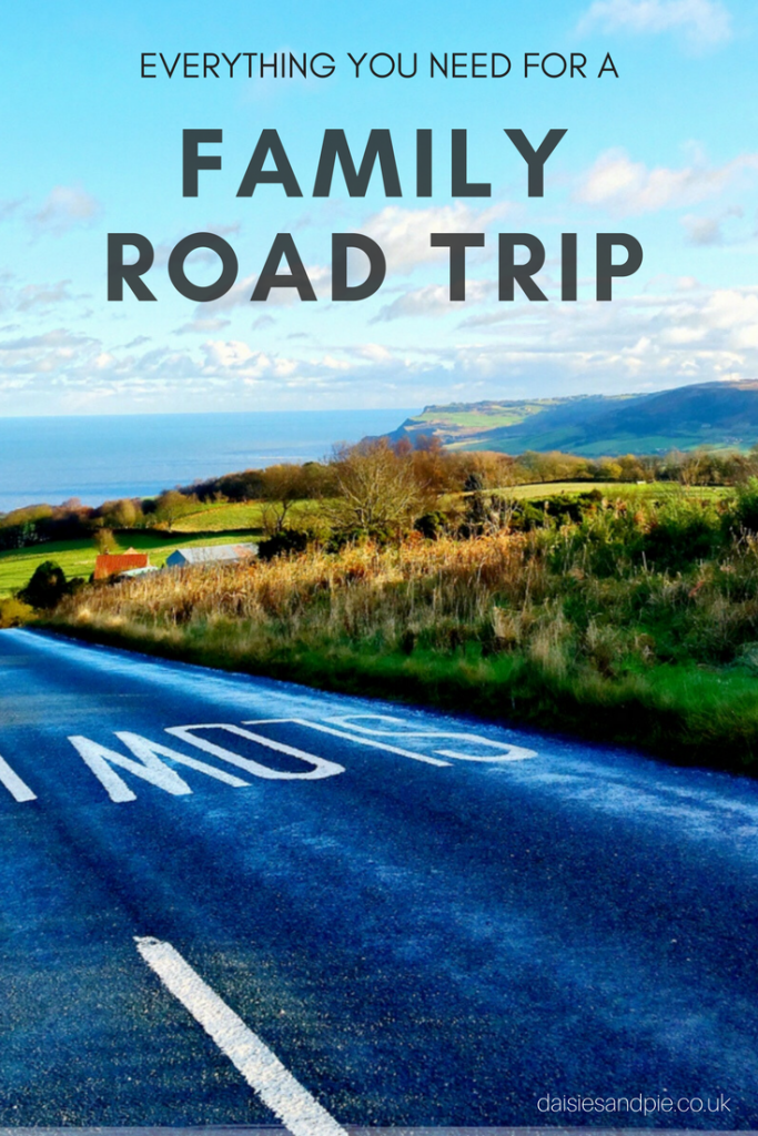 Everything you need for a family road trip, list of essentials for taking on family day trips