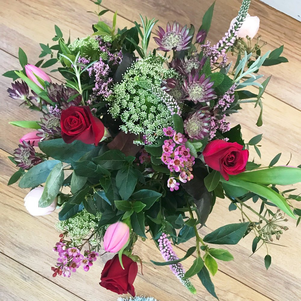 The Real Flower Company Valentine Posy Review, Valentine Flowers, English flowers