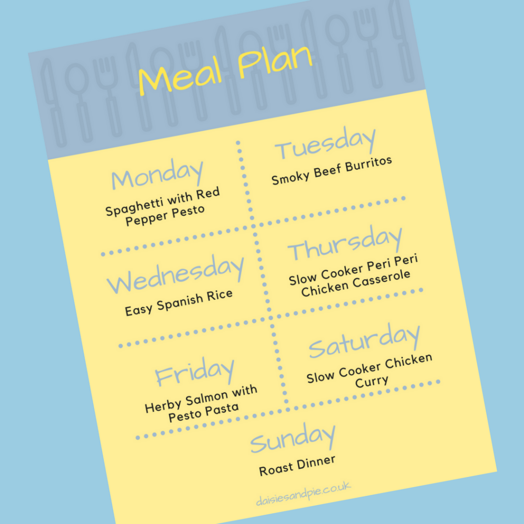 A weekly family meal plan filled with delicious easy to make family dinner recipes