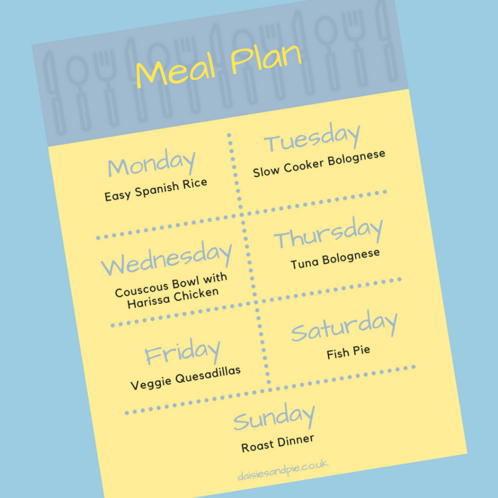 A weekly family meal plan filled with easy family dinner recipes