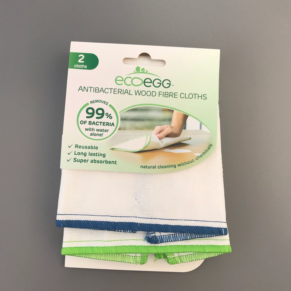 pack of ecoegg antibacterial wood fibre cloths