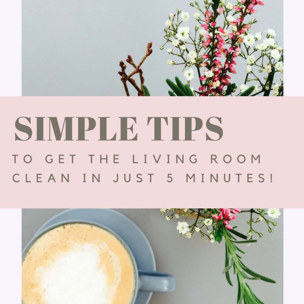 Easy way to tidy the living room in just 5 minutes