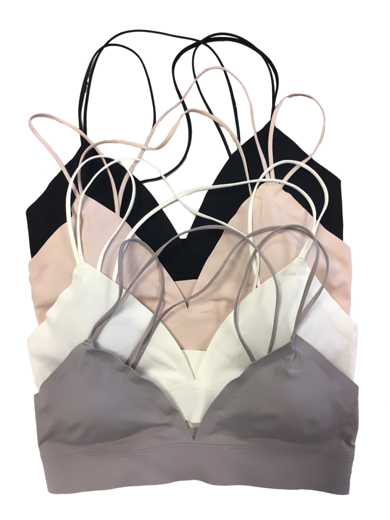 MAGIC Body Fashion Dream Bralette in four colours black, rose, white and grey