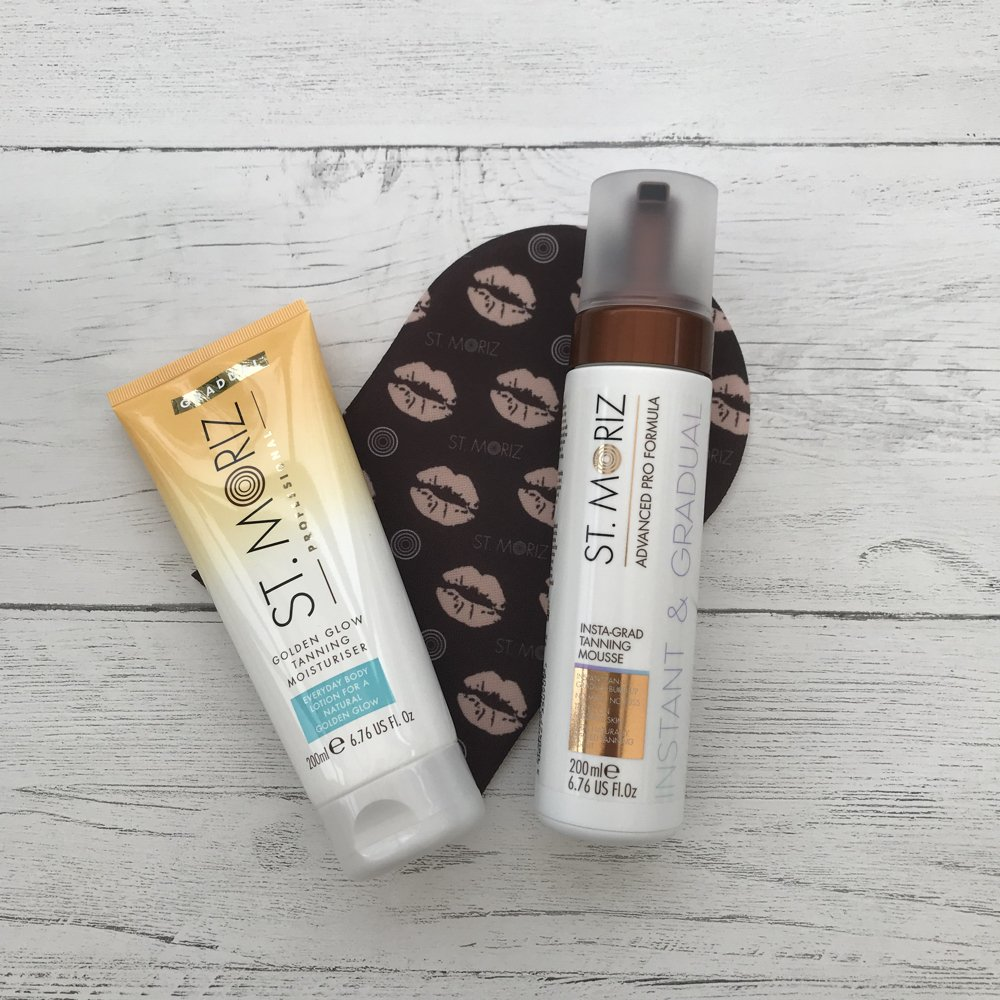 St Moriz Instant and Gradual tanning mousse with tanning mit
