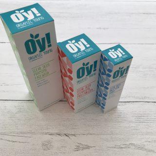 OY! Organic Skincare Range - foaming face wash, cleansing moisturiser and skin purifying serum