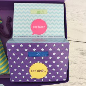 sanitary towels inside the bettybox period subscription box for girls