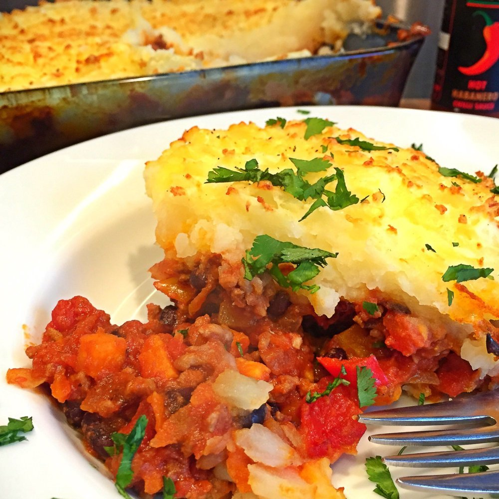 plateful of Mexican shepherds pie