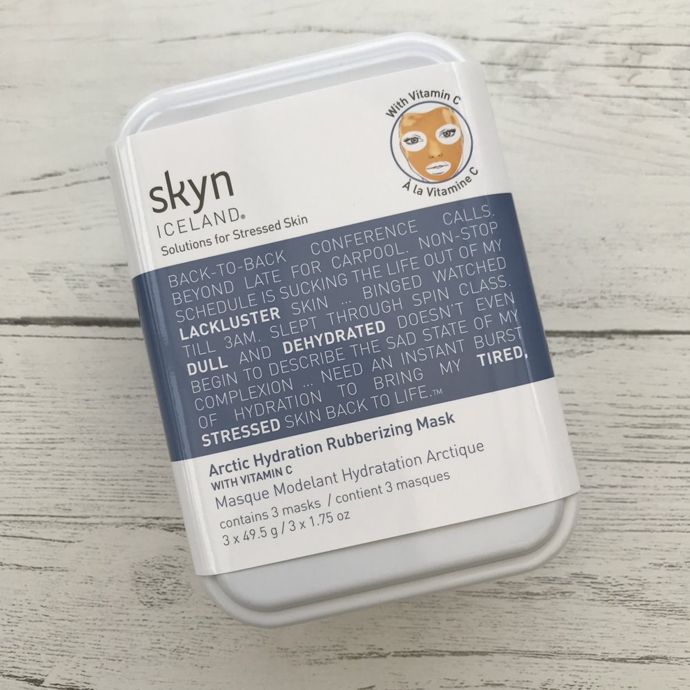 skin iceland arctic hydration rubberising mask with vitamin c