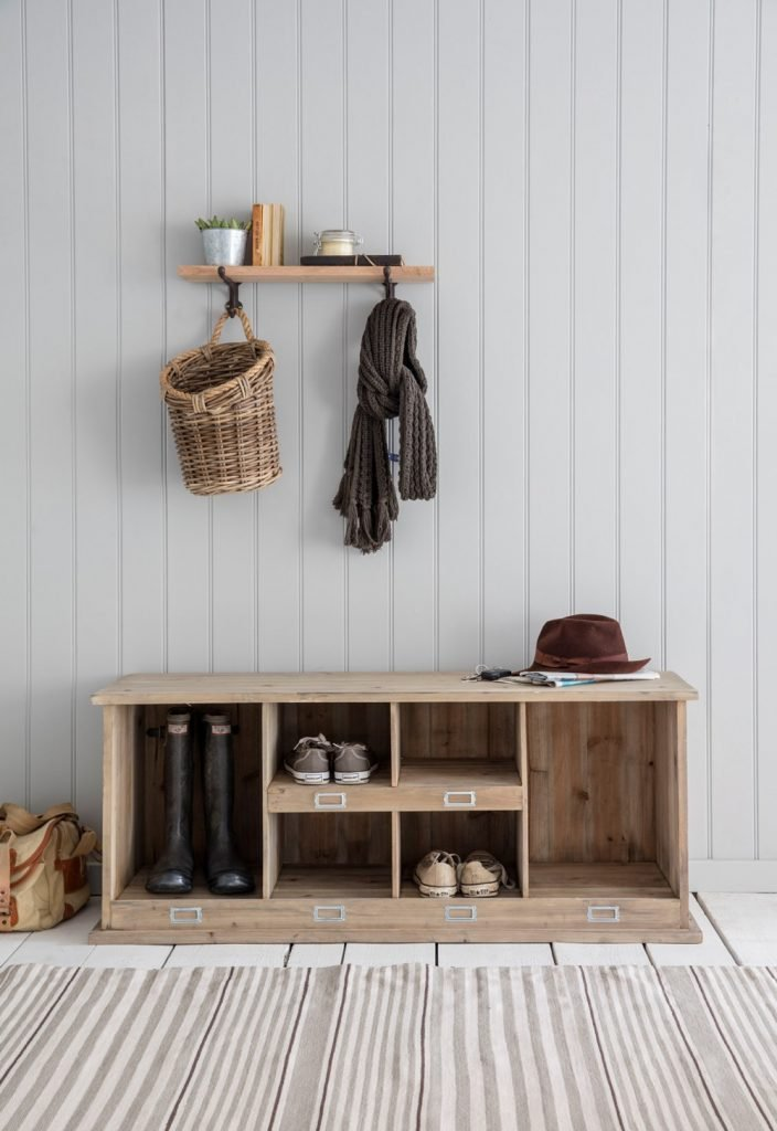 The Holding Company Chedworth shoe and boot storage bench