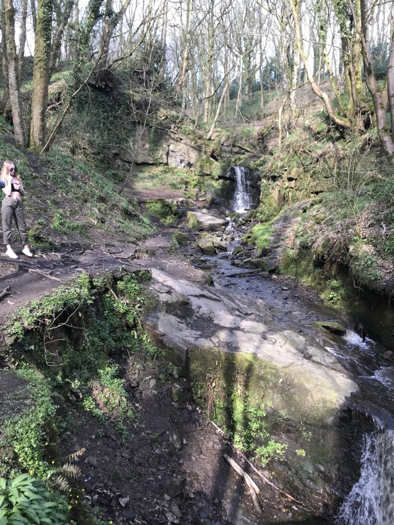 waterfalls at Fairy Glen Parbold
