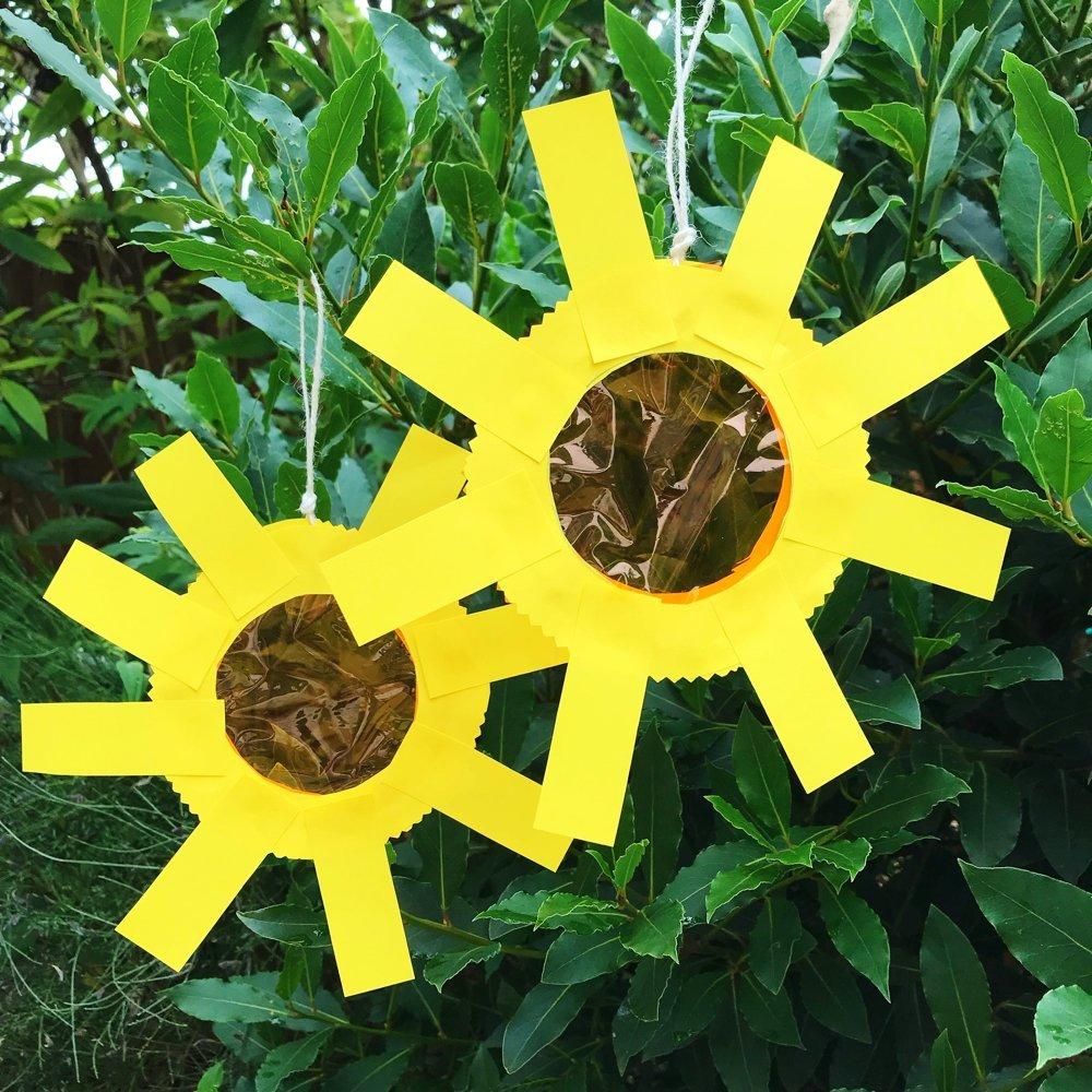 sunshine sun catcher craft hung in a tree