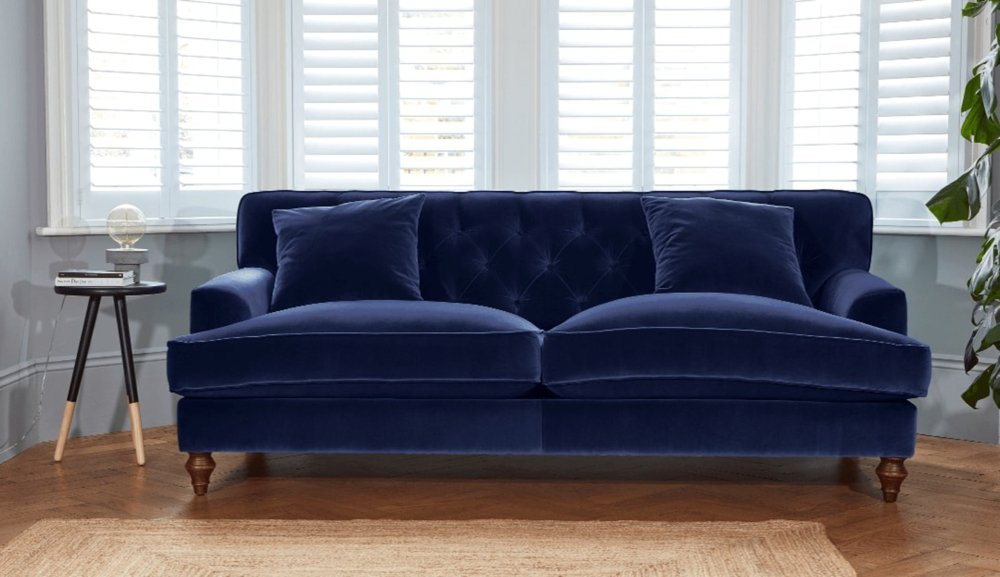 Charwood Sofa from Darlings of Chelsea in indigo