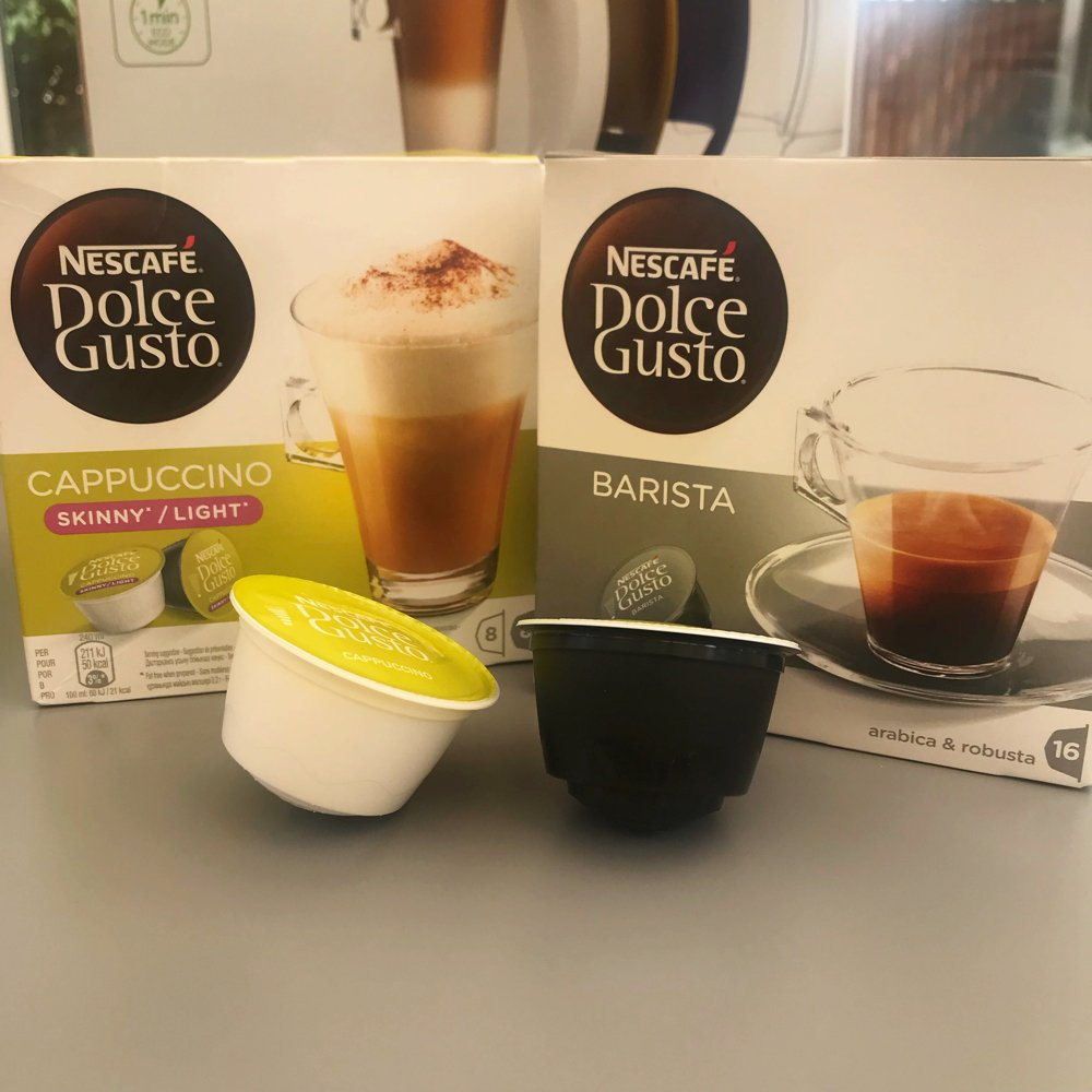 Dolce Gusto Barista and skinny cappuccino coffee pods