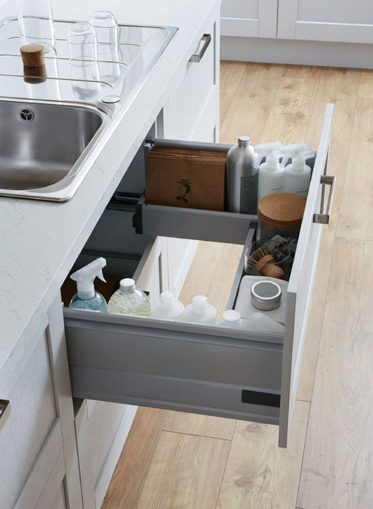 under sink storage draw Howden Kitchen