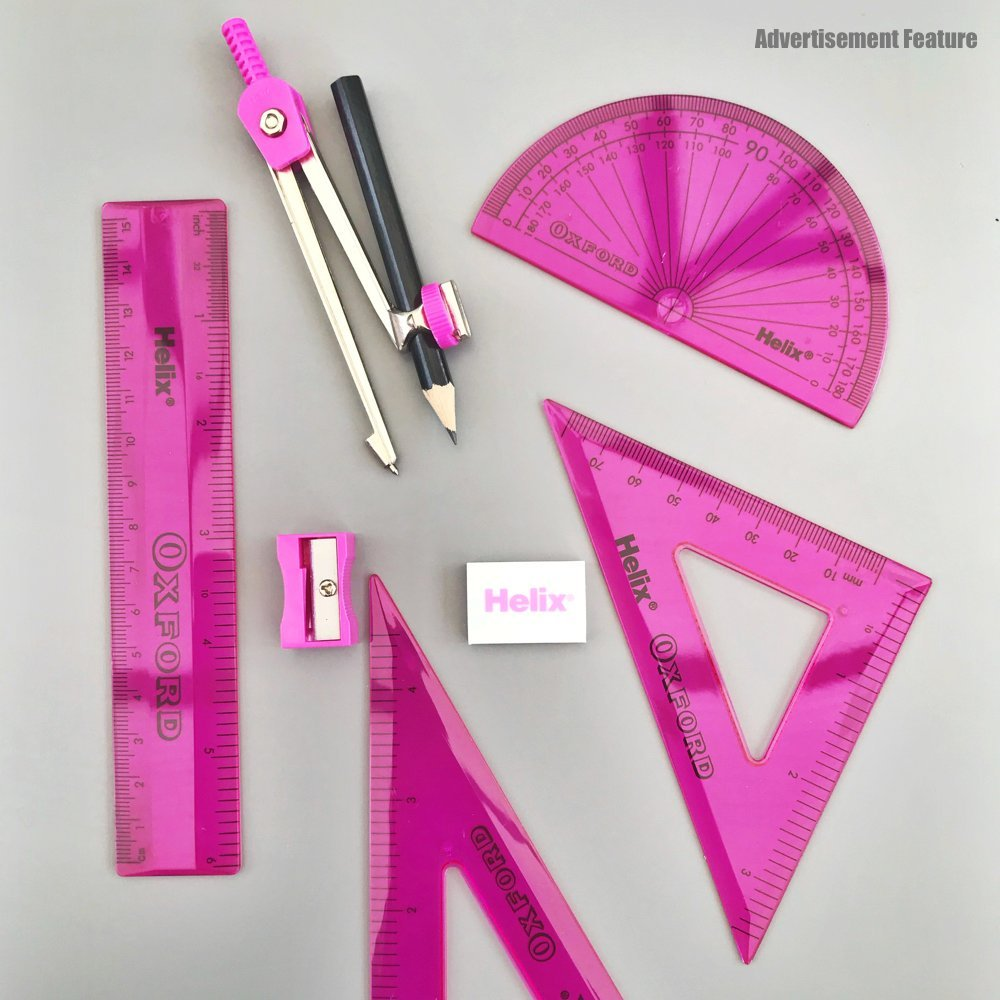 "Oxford Maths set in pink. Text ""high school essentials"""