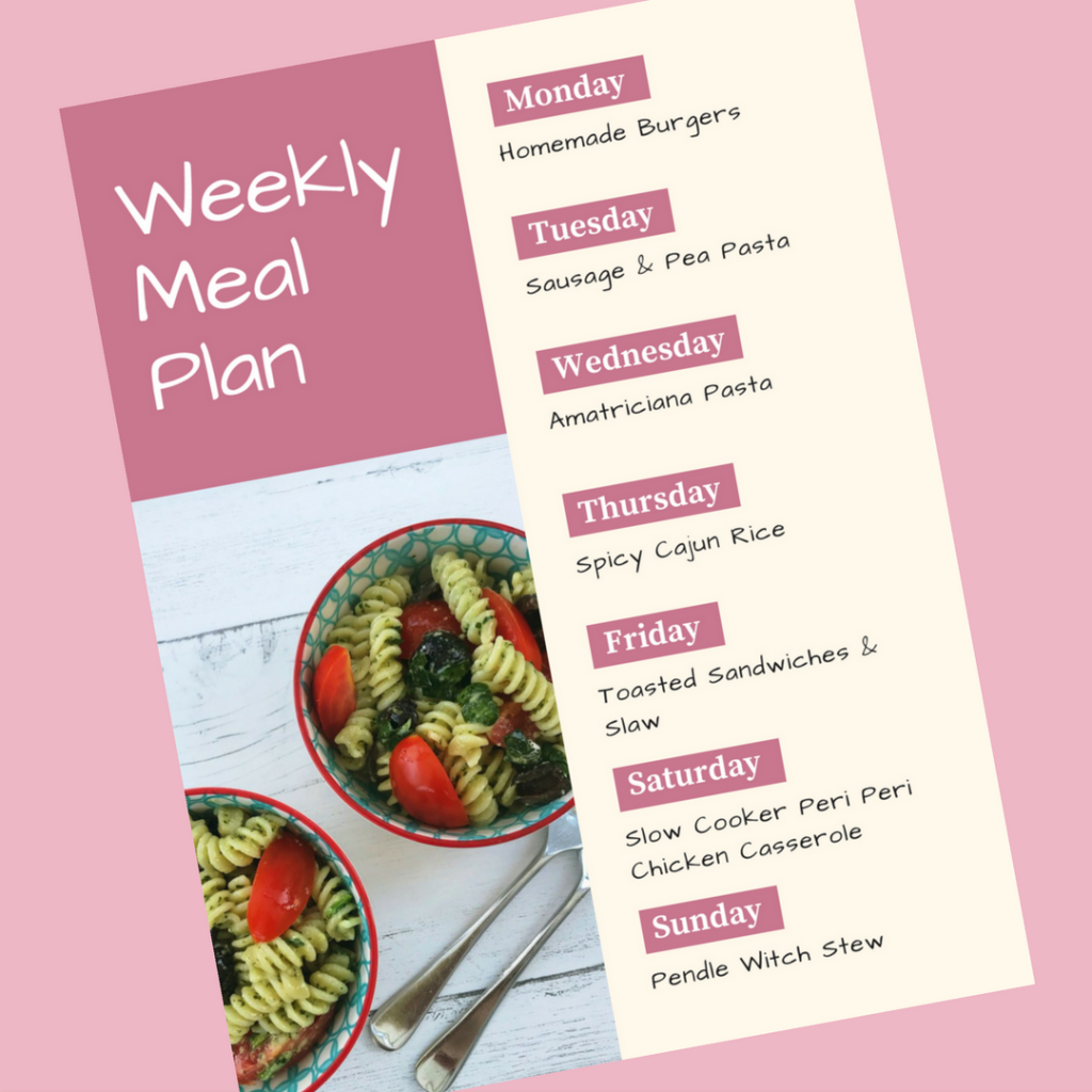 Family Meal Plan 20th August 2018