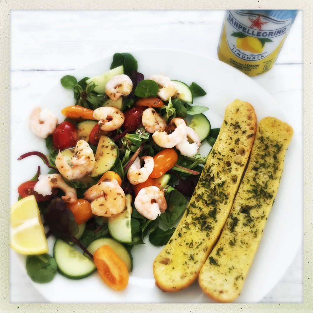 Quick Spicy Prawn Salad