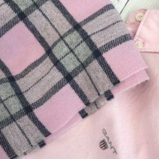 Gant pink shirt and scarf