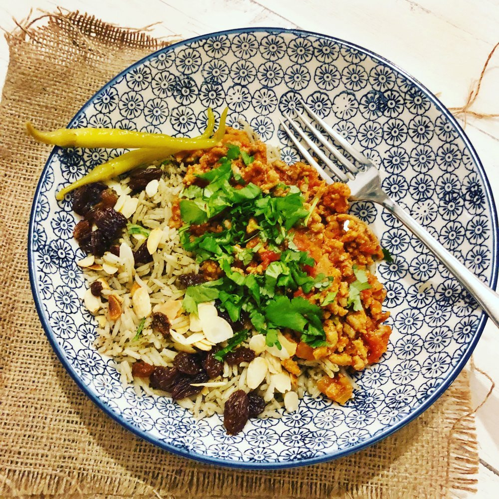 Quick Moroccan Lamb Mince with Herby Rice