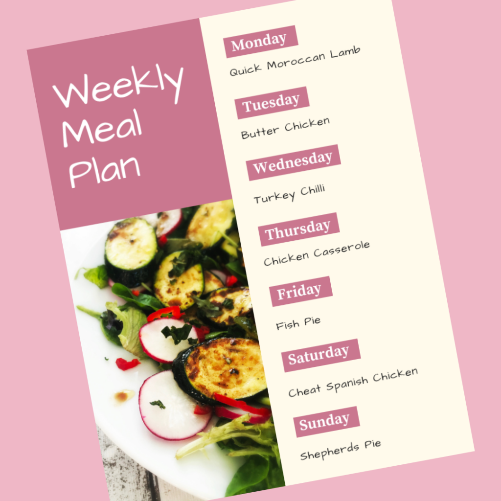 Family Meal Plan 19th November 2018