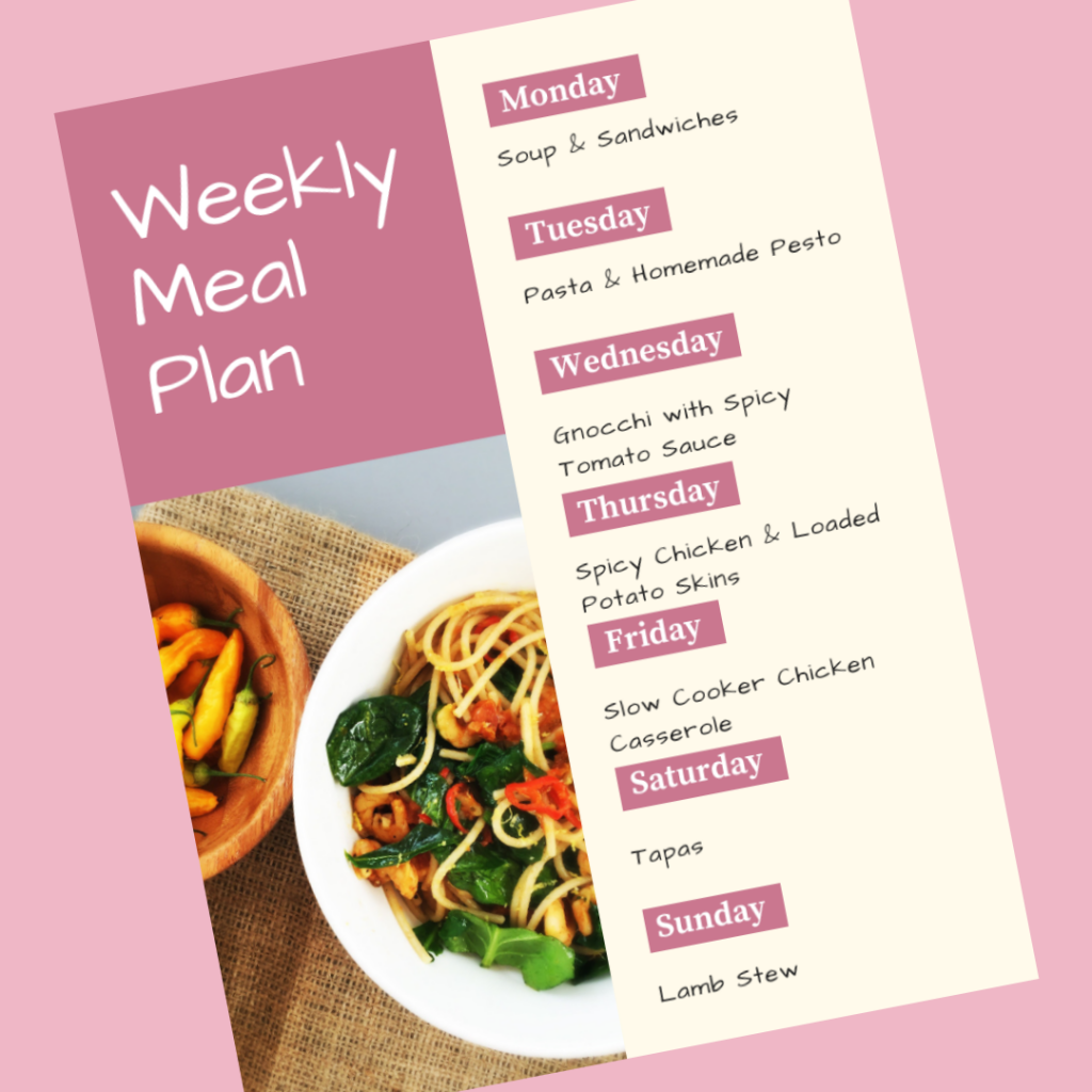 Family meal plan 26th November 2018
