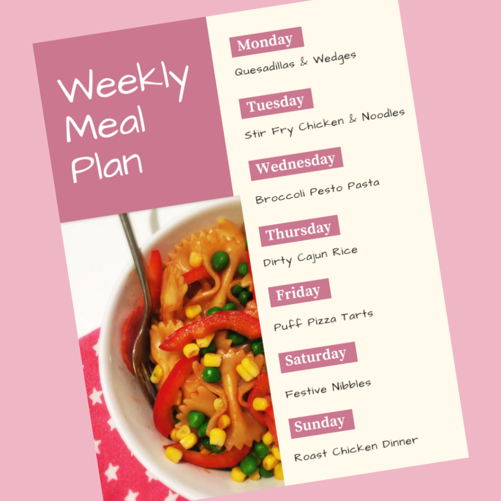 Family Meal Plan 3rd December 2018