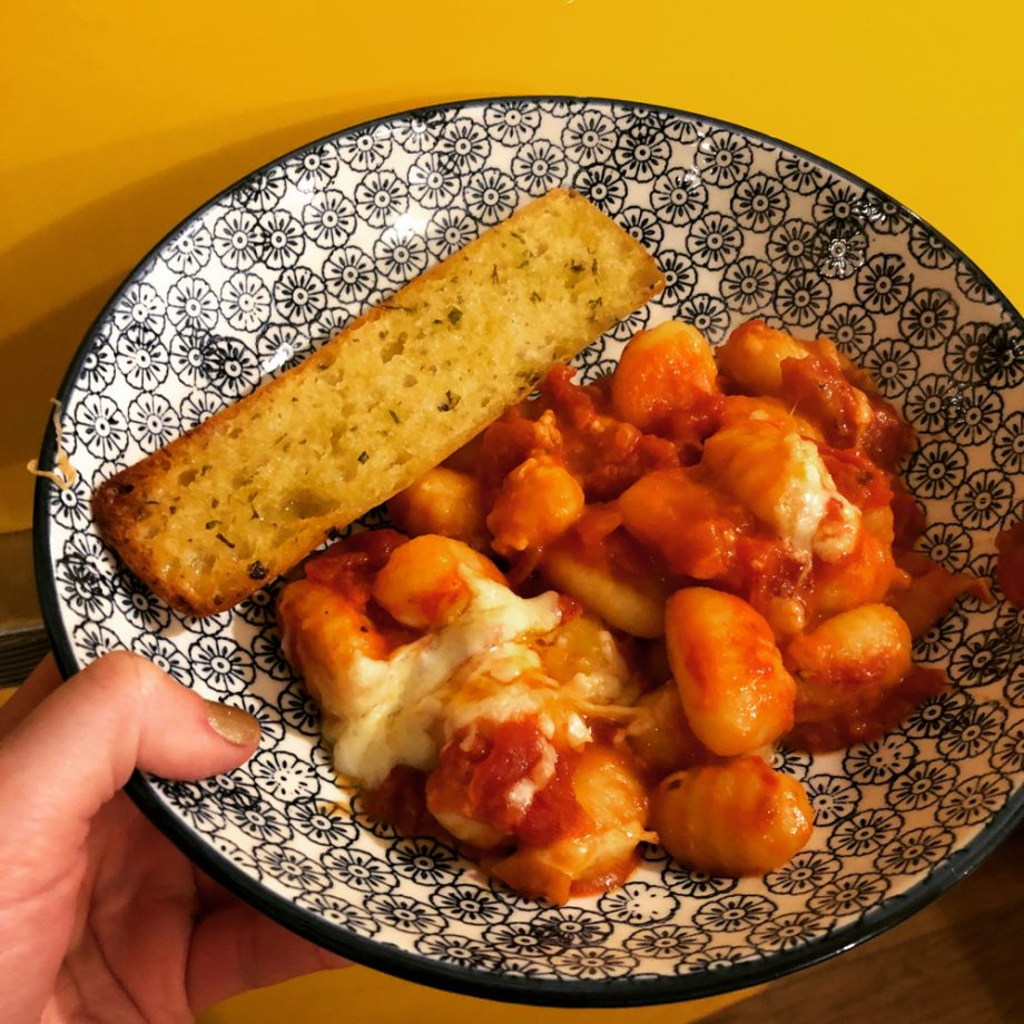 Gnocchi with Tomato and Rosemary Sauce