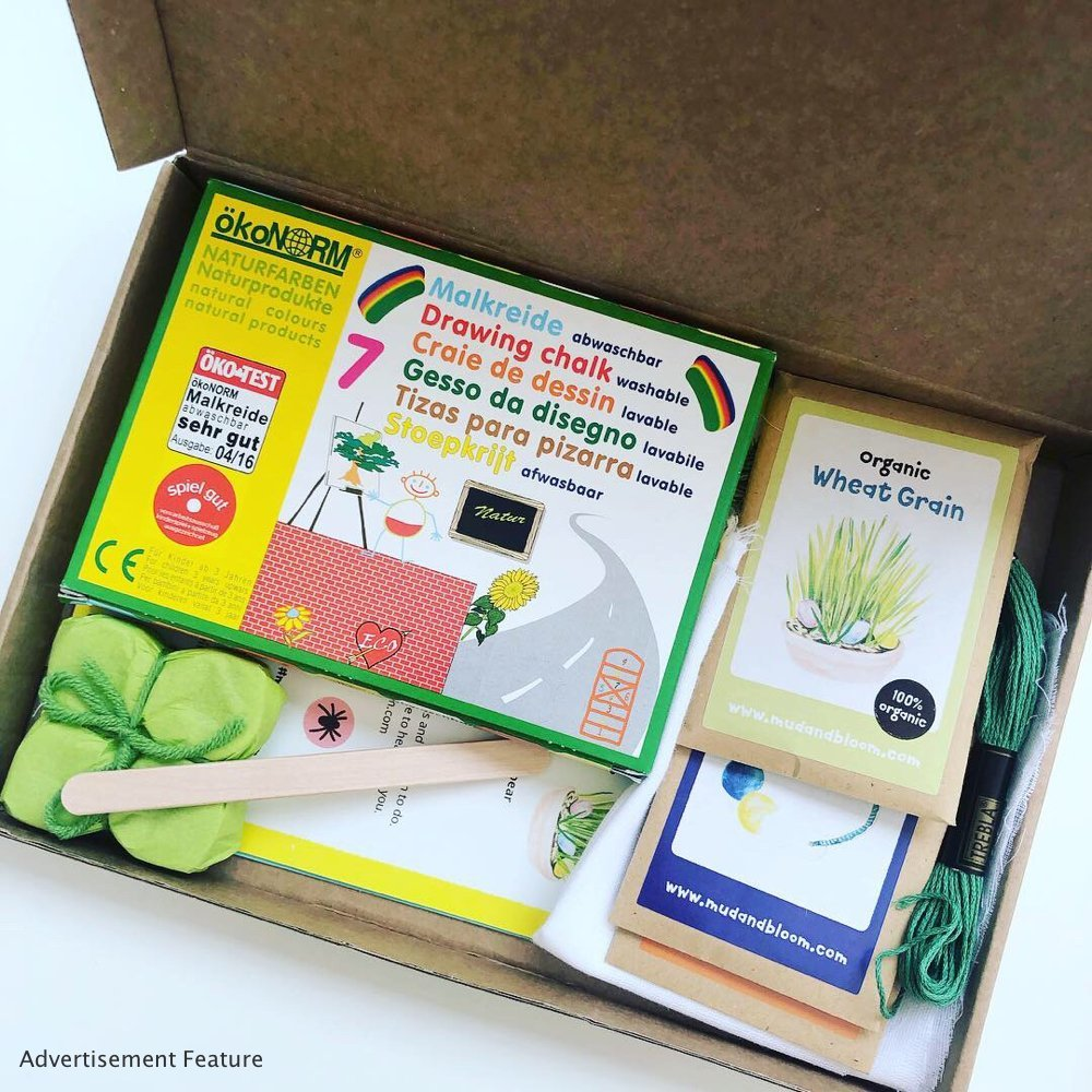 Mud & Bloom kids subscription box contents