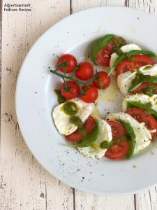 fresh Caprese salad with Auricchio buffalo mozzarella