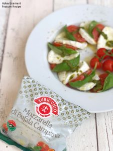 fresh Caprese salad with Auricchio buffalo mozzarella