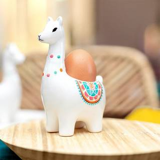 llama egg cup from red candy