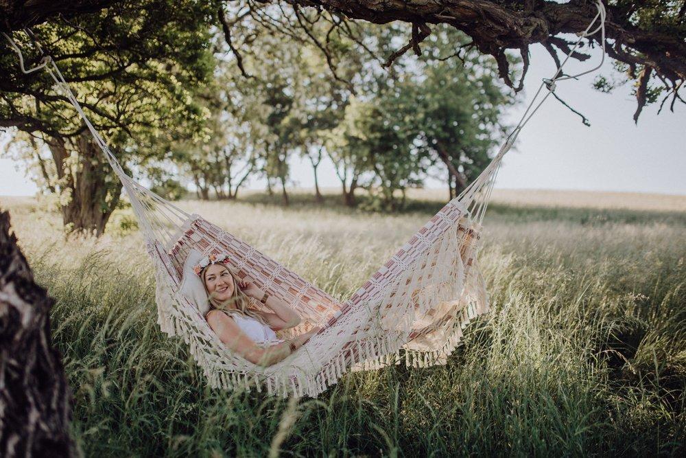 garden furniture ideas - boho hammock for in the garden