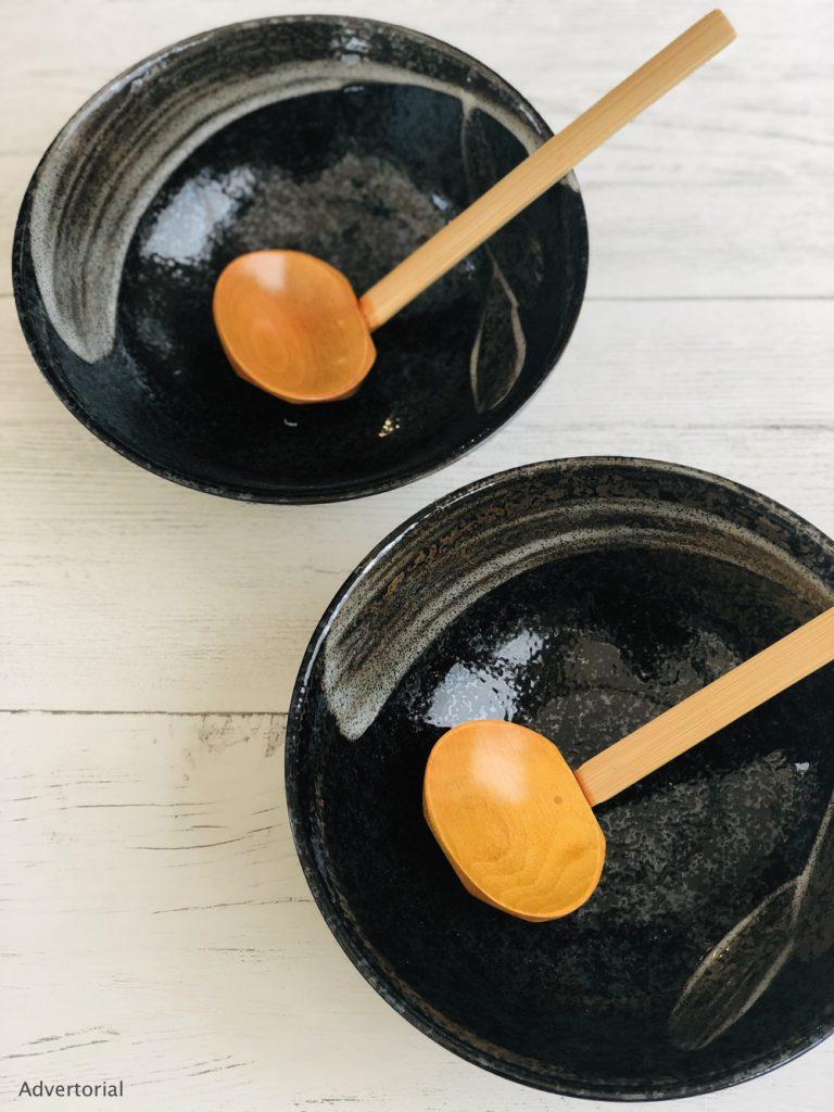 black ramen bowl gift set from SousChef