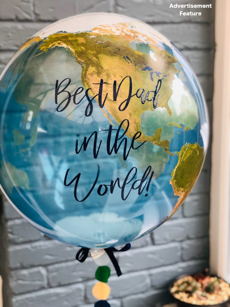 best dad in the world balloon from bubblegum balloons