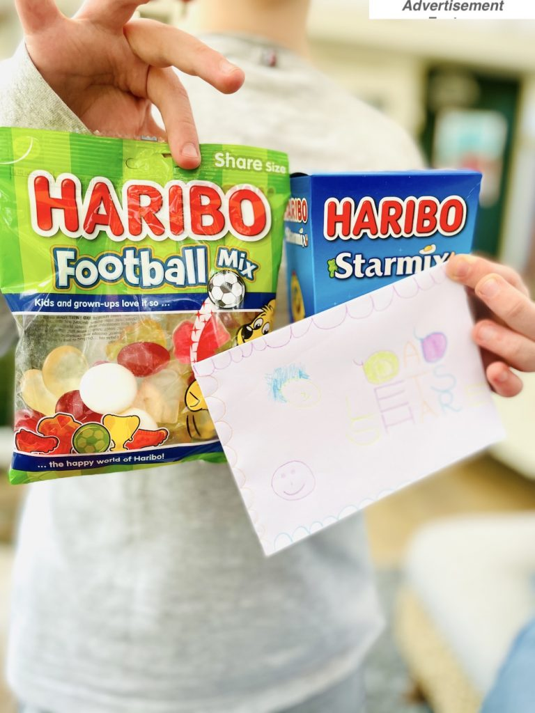 Father's Day gift ideas - HARIBO football mix  as a fathers day  gift idea