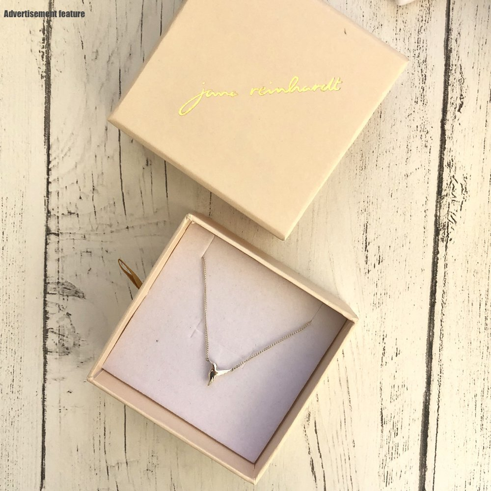 Silver Hummingbird Necklace by jana Reinhardt in the box