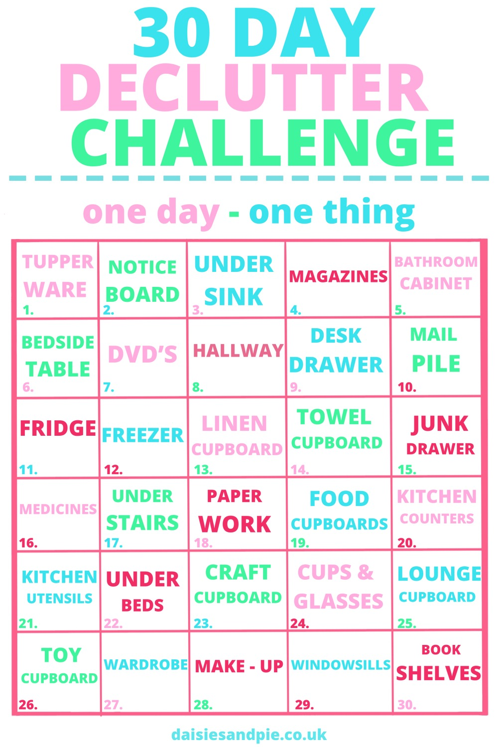 Mission declutter   20 day declutter challenge   How to declutter ...