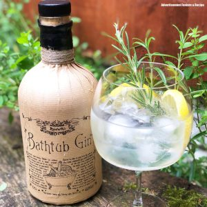 Ableforth's Bathtub Gin with Tonic Water and Lemon and Rosemary garnish