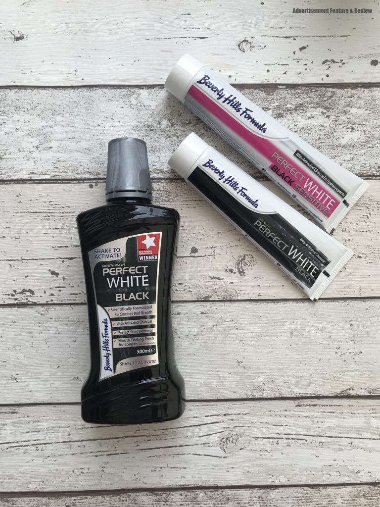 Beverley Hills Formula charcoal toothpaste and charcoal mouthwash