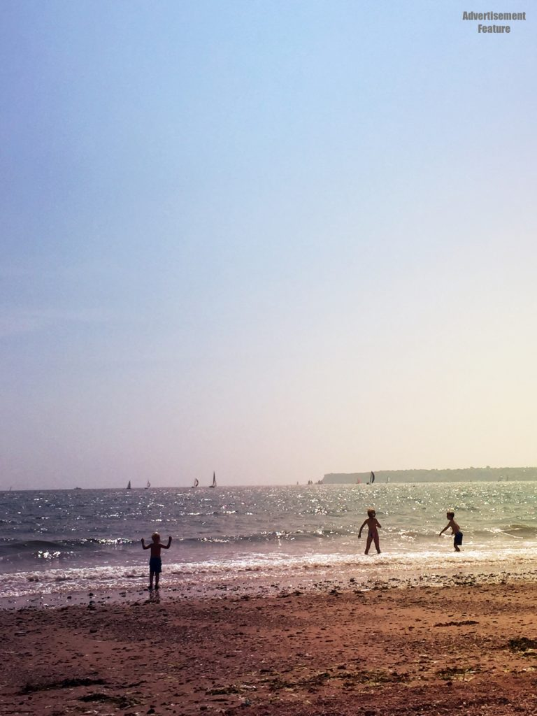 kids playing in the sea at Goodrington Sands