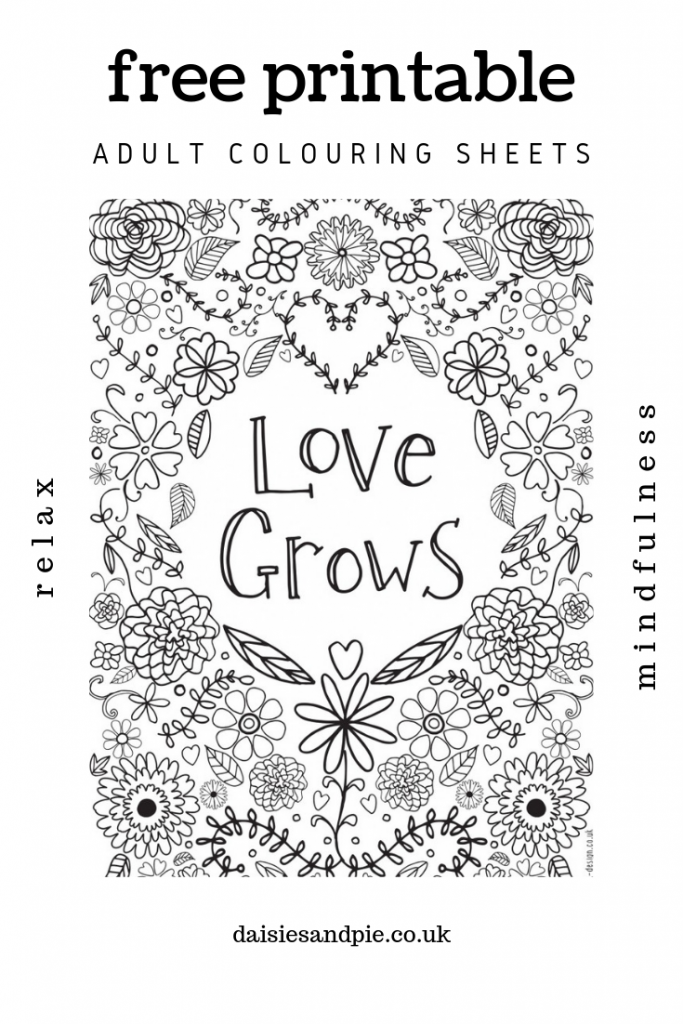 - Free Printable Adult Colouring Pages With Inspirational Quotes Daisies &  Pie