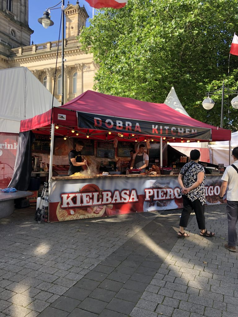 Dobra Kitchen selling Polish food at Bolton Food Festival