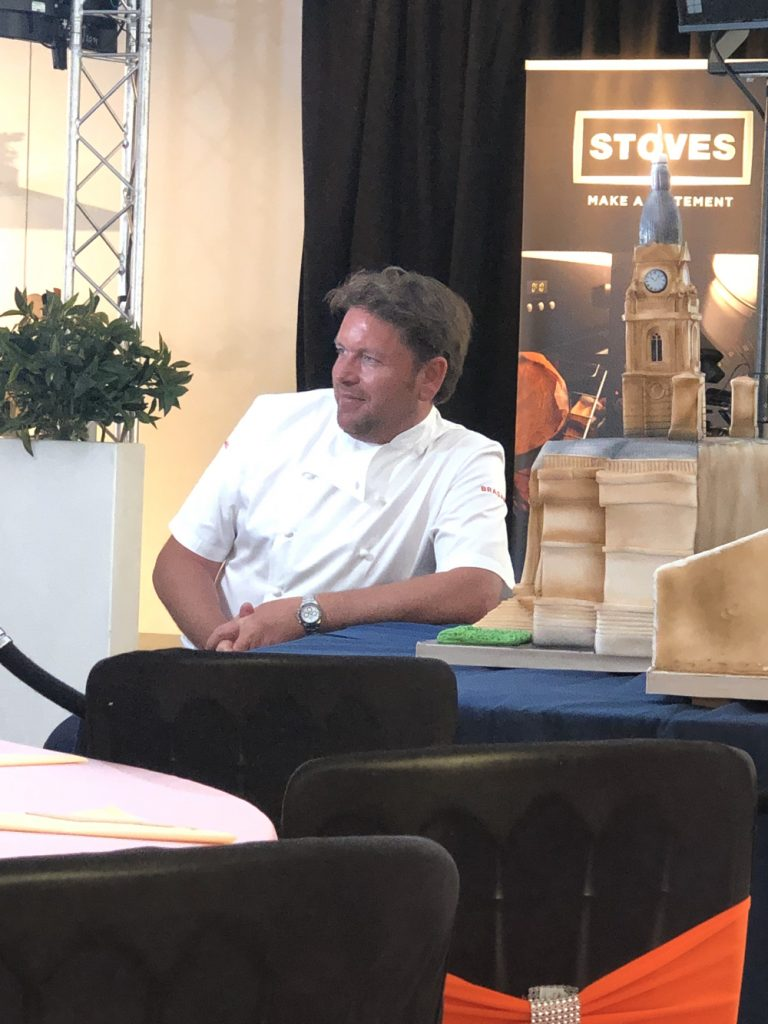 James Martin cooking demonstration at Bolton Food Festival