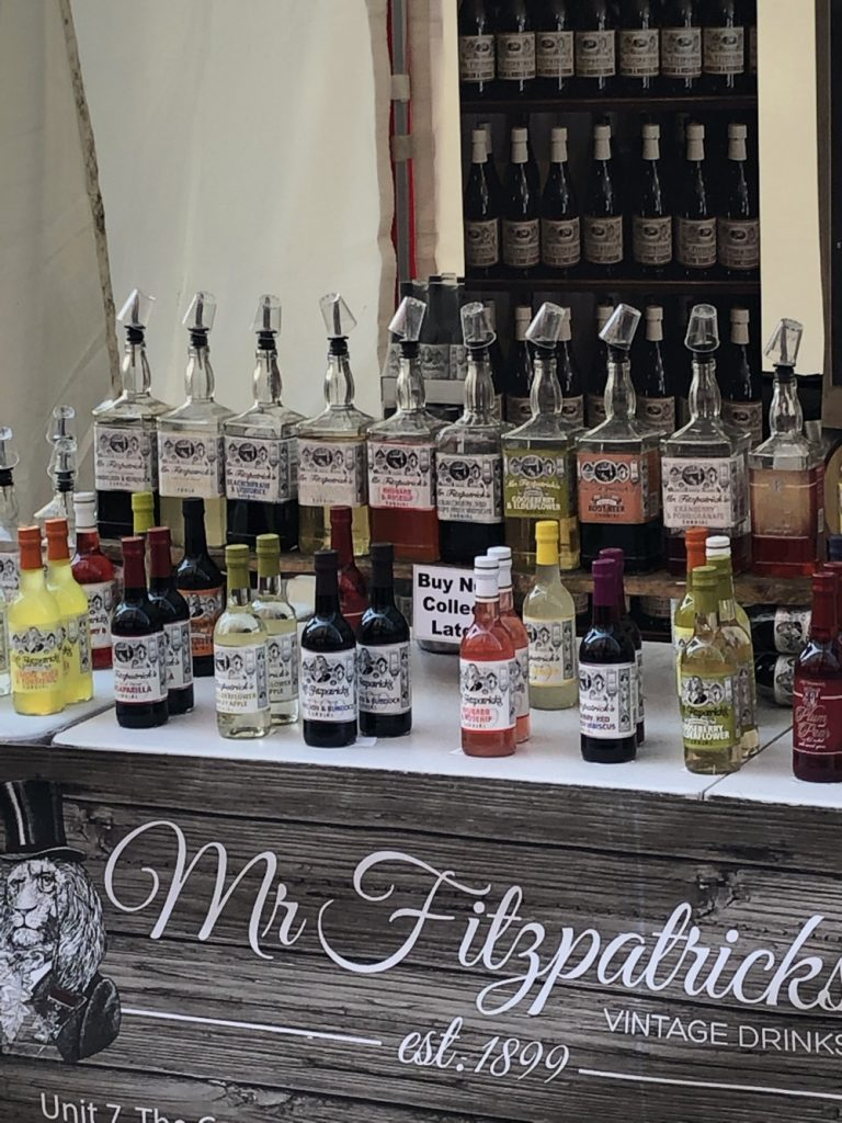 Mr Fitzpatrick Vintage Drinks cordial stall at Bolton Food Festival