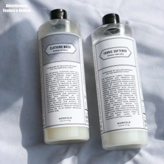 Norfolk Natural Living laundry detergent and fabric softener
