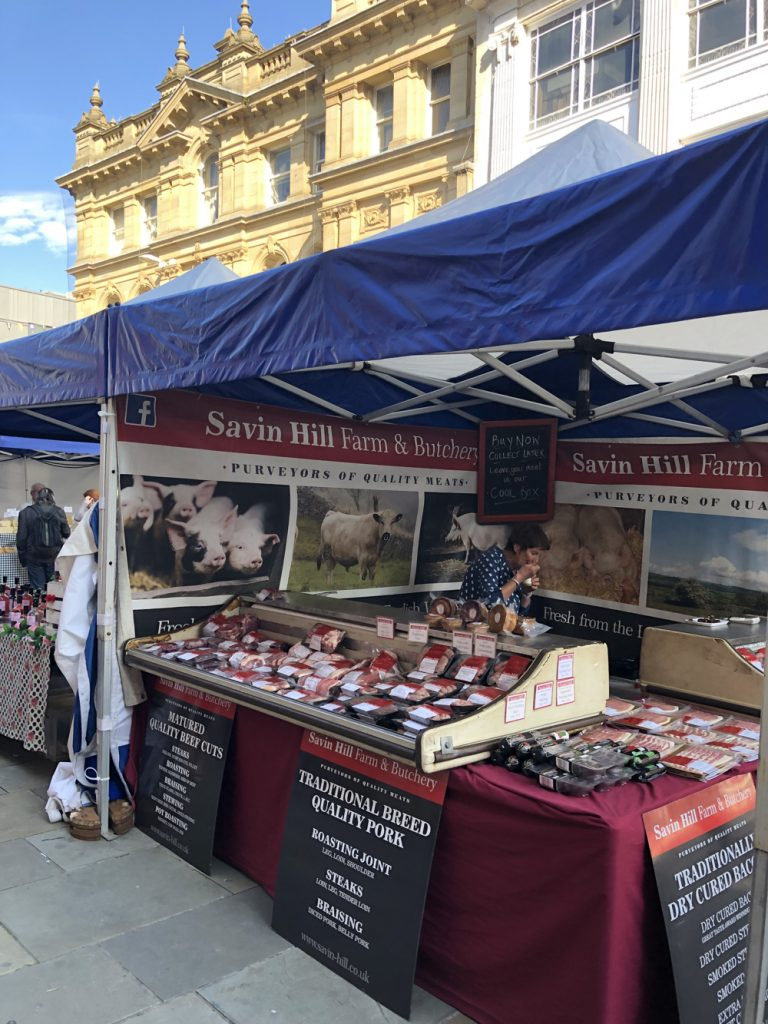 savin hall farm butchery selling meat at Bolton Food Festival