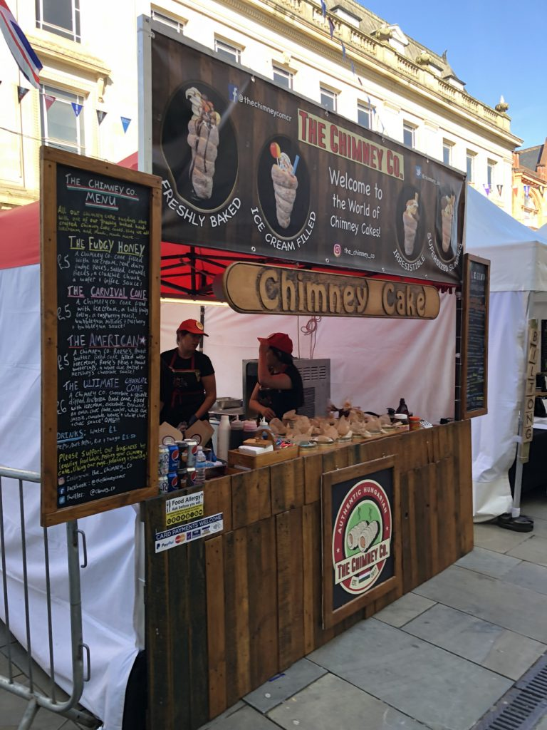 The Chimney Cake Company selling cakes at Bolton Food Festival