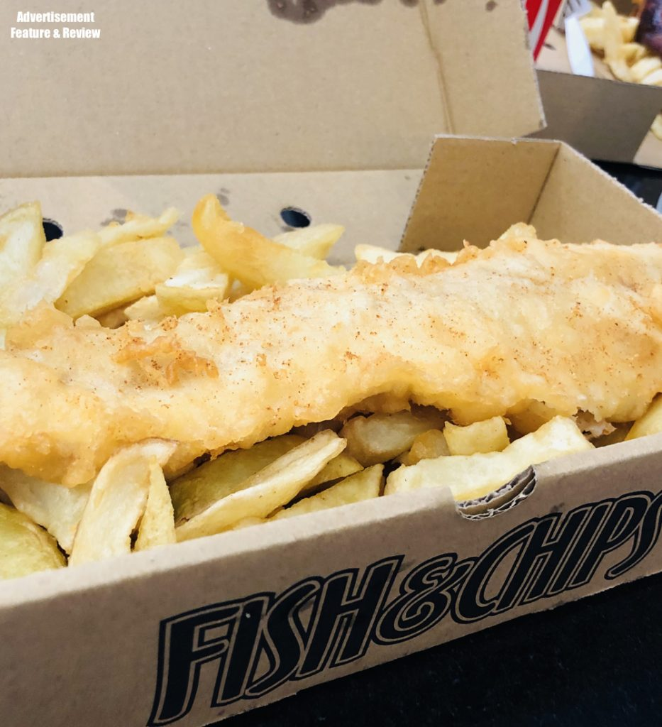 fish and chips from the coral island fish and chip shop where kids eat free