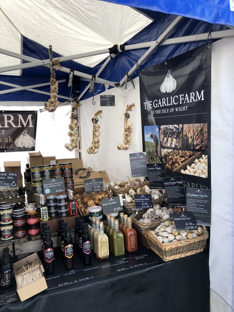 Isle of Wight Garlic Farm street vendor at Bolton Food Festival