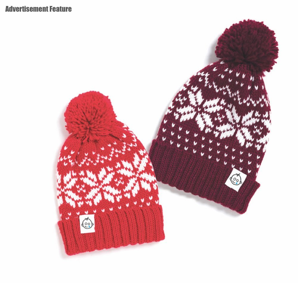 Great Ormond Street Hospital charity knitted fairisle bobble hats